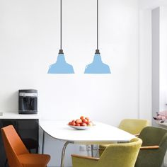 Use this stylish retro pendant lights wall decal to create colorful unique decoration for your walls. This vinyl wall Sticker comes in 2 pieces and you can shorten the size of the wires.$44.95
