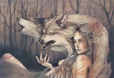 Forest Spirit. by Lorena Assisi, via Behance