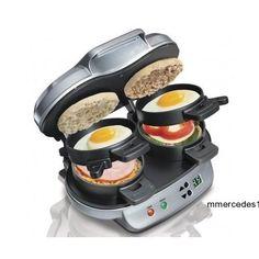 Hamilton Beach Dual Breakfast Sandwich Maker New Grill Kitchen Electric Press #HamiltonBeach