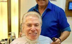 Silvio Santos é comparado a Trump após aparecer de cabelos brancos