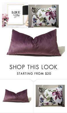 """#purple silk velvet pillow #floral pillow #poster print"" by modernhouseboutique on Polyvore featuring interior, interiors, interior design, дом, home decor, interior decorating, floral, purple, handmade и poster"