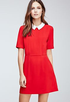 Collared Crepe A-Line Dress | Forever 21 - 2000082396