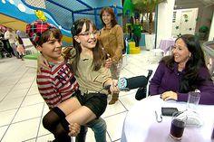 Maria Joaquina vira repórter no Domingo Legal deste domingo; veja fotos