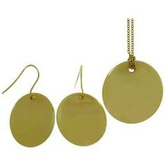 Tiffany & Co. Elsa Peretti Yellow Gold Earrings and Necklace Set