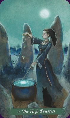 Green Witch Tarot - The High Priestess
