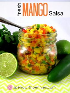Fresh Mango Salsa Love it? Pin it! Follow Spend With Pennies on Pinterest for more great recipes! This is an amazing mango salsa recipe that you HAVE to try. So fresh and yummy (and healthy too!). I usually double or triple the recipe because my kids...