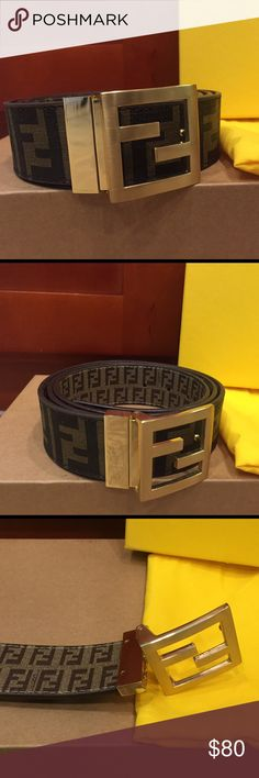 ***FLASH SALE - PRICE IS NON NEGOTIABLE*** Fendi Tobacco Zucca Reversible Belt. Brand New with dust bag. No Box Fendi Accessories Belts