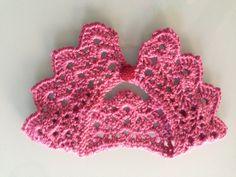 Cuello para bebe realizado en crochet