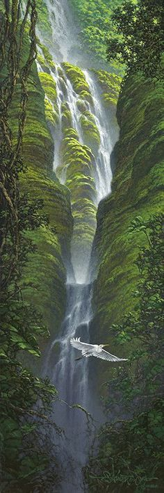 Limited Edition Giclee on CanvasSigned And NumberedUnframedEdition Size: Size: x Artist Enhanced or Non-Enhanced units Available. – Hacet Yılmaz – Join the world of pin Beautiful Waterfalls, Beautiful Landscapes, Beautiful World, Beautiful Places, Beautiful Scenery, Amazing Places, Nature Scenes, Amazing Nature, Belle Photo