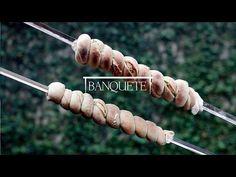 Banquete » Pão com alho no espeto