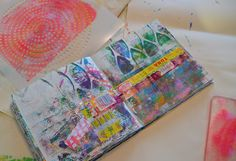 Plain and simple - layers. I love the layers I can get with it (Gelli plate)!!! Here's a little show and tell of one tiny little gelli plate session