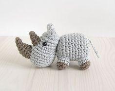 small crochet rhino amigurumi free pattern