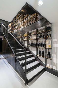 metal stairs, black plate stairs