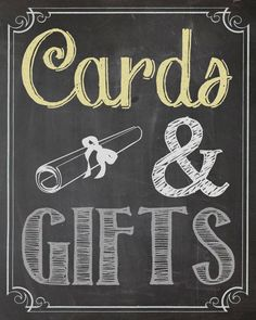 Shabby Chic Vintage Chalkboard Sign Graduation Party Cards & Gifts Birthday Bridal or Baby Shower Wedding Digital
