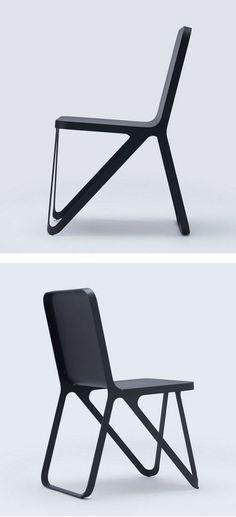 Powder coated steel #chair LOOP CHAIR by NEO/CRAFT #black /NEOCRAFT_Berlin/