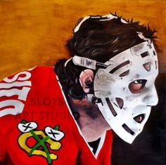 Items similar to Tony Esposito (Tony x Oil on Wood Panel, Chicago Blackhawks Goalie Mask Painting on Etsy Blackhawks Hockey, Hockey Goalie, Chicago Blackhawks, Hockey Players, Ice Hockey, Hockey Hall Of Fame, Hockey Room, Mask Painting, Goalie Mask