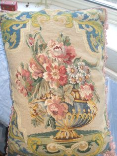 Amazing French needlework 1800s i have just sold it ill be sad to see it go