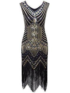 Vijiv Women Gastby Sequin Art Nouveau Embellished Fringed Flapper Dress - Beige Blue X-Small Costume Garçon, Gatsby Costume, Flapper Costume, Gatsby Dress, 1920s Dress, Halloween Costumes, Plus Size Maxi Dresses, Short Sleeve Dresses, Robes Vintage