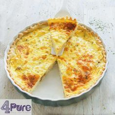 vegetarian quiche with shallot and goat cheese