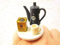 Tea Ring   Miniature Food Jewelry Tea Time