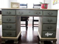 Before & Afters Annie Sloan restoration from a GREAT blog