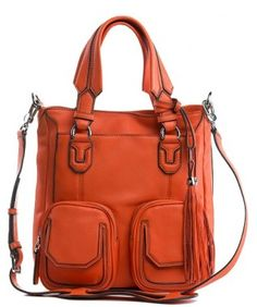 Natalie Small Shopper, Tangerine $238.00 This Shopper is the perfect medium sized bag, with an additional strap and shoulder-pad when wearing it as a long shoulder. It's very light weight, with heavy bombay and paneling using contrast edge paint to bring all of the panels to focus. This is the perfect bag for the downtown-chic look! Padded straps and tons of hidden function (5 outside pockets!) make this bag a must-have from Aimee Kestenberg.  Available in -Black, Powder Blue, Pink,Paint…