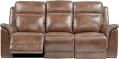 Barcaccia Brown Leather Power Reclining Sofa - Reclining Sofas (Brown)