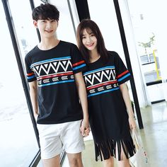 dad7d679e049 Lover s Tribal Casual Wear Summer Beach Short Sleeves White Shirt Fringe  Dress. Matching Clothes ...