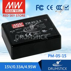 best-selling MEAN WELL PM-05-15 15V 0.33A meanwell PM-05 15V 4.95W Switching Power Supply #Affiliate