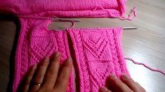 Детская кофточка с сердечками для девочки. 2 часть. Мастер-класс.