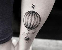 Small Hot Air Balloon Tattoo by Joice Wang