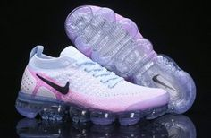 Newest Nike Air VaporMax Flyknit 2 White Hydrogen Blue Pink 942843 102 Sneakers Women's Running Shoes New Nike Air, Nike Air Vapormax, Running Shoes For Men, Running Women, Nike Shoes, Sneakers Nike, Women's Shoes, Pop Shoes, Shoes Men