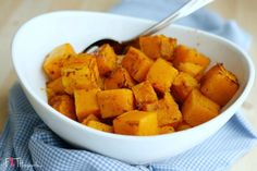 Cinnamon Roasted Butternut Squash. A simple and sweet recipe. A great way to get your kids to eat their vegetables.