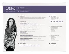 Love this landscape resume format! Great stuff. Resume Design, Resume Style…