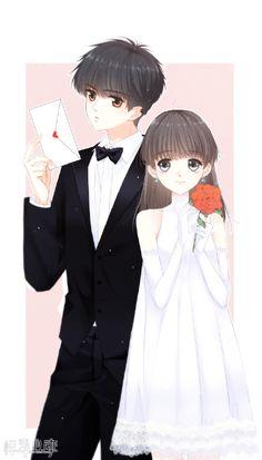 怦然心动漫画 Cute Couple Art, Anime Love Couple, Cool Anime Girl, Pretty Anime Girl, Anime Couples Drawings, Anime Couples Manga, Anime Chibi, Manga Anime, Anime Love Story