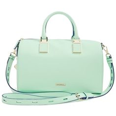 Pre-owned Rebecca Minkoff Gramercy Winter Mint Satchel (6.675 UYU) ❤ liked on Polyvore featuring bags, handbags, winter mint, structured handbag, preowned handbags, mint green satchel, green satchel handbag and green handbags