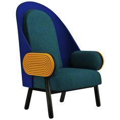 'MOON-D', a Contemporary Armchair with a Vintage Twist in Limited Edition | From a unique collection of antique and modern armchairs at https://www.1stdibs.com/furniture/seating/armchairs/