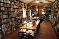 "The personal library of Alberto Manguel, author of ""The Library at Night,"" a…"