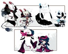 [CLOSED] ADOPT AUCTION 160 - Shadowmonsters by Piffi-adoptables on DeviantArt