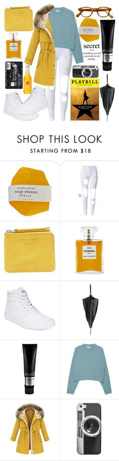 """""""Day 37- Going to see Hamilton with Friends"""" by averyzerb1y ❤ liked on Polyvore featuring Acne Studios, Chanel, Vans, Jean-Paul Gaultier, TIGI and Casetify"""
