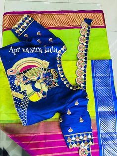 Hand Work Blouse Design, Simple Blouse Designs, Blouse Designs Silk, Designer Blouse Patterns, Saree Kuchu Designs, Wedding Saree Blouse Designs, Saree With Belt, Saree Belt, Blouse Designs Catalogue