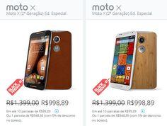 """Motorola Moto X 2ª Geração Android 4.4 Tela 5.2"""" 32GB 4G Wi-Fi Câmera 13MP GPS - Todas cores disponíveis << R$ 94895 >>"""