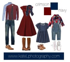 Navy/crimson outfit inspiration: what to wear for a family photo session in the…