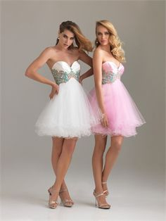Strapless Sweetheart Tulle Embroidery Yellow Short Prom Dress PD0858  http://www.simpledresses.co.uk