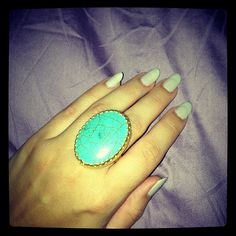 Turquoise Crackle Ring