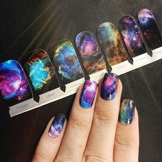 Space is rarely a good thing to want in a relationship but in the beauty world, we've pretty much conquered all the galaxies. Our gnarly nebulae nail wraps are cosmically accurate and actually exist i