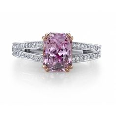 Omi Gems: Pink Sapphire and Diamond Ring