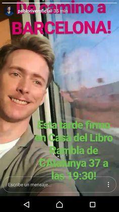Barcelona 21 de junio 2017. FIRMA ejemplares NO VOLVERÉ A TENER MIEDO en La Casa del Libro (Rambla Catalunya, 37) a las 19:30 H ¡Gracias PABLO💙💙 por compartirlas🤗🤗!