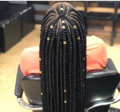 Braids Cornrows with Beads for Adults Super Cool Cornrows Braids Black Girl Braids, Braids For Black Hair, Hair Braiding Styles Black, Box Braid Styles, Braids For Black Women Cornrows, Fulani Braids, Afro Hair, Twist Braids, Cornrows Box Braids