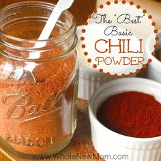 Easy, all-natural homemade chili powder -- cheaper and tastier than store-bought! And no silicon dioxide (store-bought chili powder often contains it).
